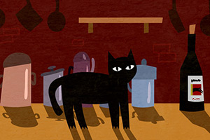 Gato Negro illustrations